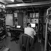 Ken Kloppenborg Satellite Communications Engineer at work