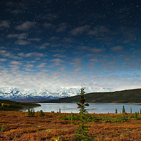 Wonder Lake under the moonlight in Denali National Park. © John McBrayer