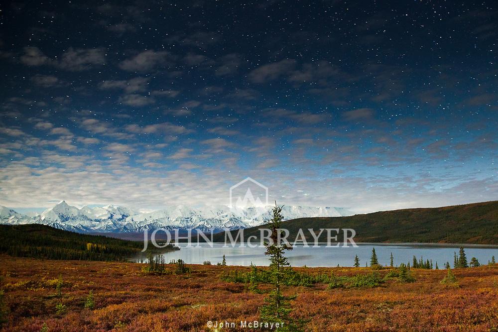Wonder Lake under the moonlight in Denali National Park. © John McBrayer