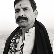 Portrait of Hindu man in taditional clothing