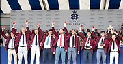 Henley on Thames, England, United Kingdom, 7th July 2019, Henley Royal Regatta, Prize Giving, The Ladies' Challenge Plate, Oxford Brookes University A,  [© Peter SPURRIER/Intersport Image]<br /> <br /> 17:49:18 1919 - 2019, Royal Henley Peace Regatta Centenary,