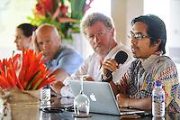 Press conference, Ubud Readers and Writers Festival, Ubud, Bali, Indonesia, 11/10/2013.