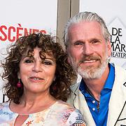 NLD/Amsterdam/20140622 - Premiere Bedscenes, Henriette Tol en partner Rob Snoek
