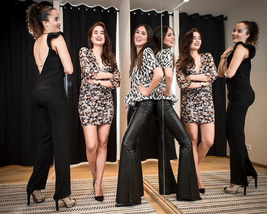 W. Toyloy (Miss suisse), Sindi Arifi (Miss suisse romande) et la blogueuse Soraya Bakhtiar.<br /> Gen&egrave;ve avril 2016<br /> &copy;Nicolas Righetti/ Lundi13