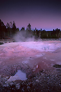 Fountain Paint Pot at twilight, Fountain Paint Pot area, Yellowstone National Park, MONTANA