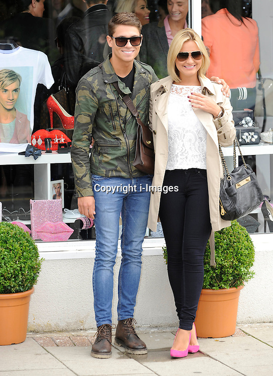 """Joey Essex And Sam Faiers arrive For The Opening Of  Harry Derbidges Shop.""""Harry's World.""""Brentwood,Essex.on Tuesday 10th July 2012.Photo by i-Images."""