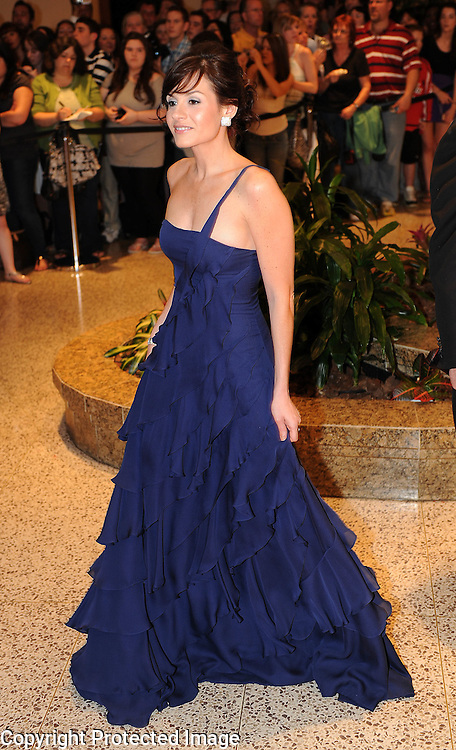Kara DioGuardi arrives for the White House Correspondents Dinner in Washington, DC