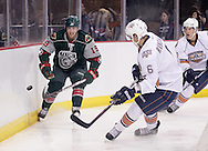 October 5, 2012: The Oklahoma City Barons play the Houston Aeros in an American Hockey League preseason game at the Cox Convention Center in Oklahoma City.