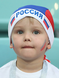 SOCHI, July 7, 2018  A fan of Russia is seen prior to the 2018 FIFA World Cup quarter-final match between Russia and Croatia in Sochi, Russia, July 7, 2018. (Credit Image: © Cao Can/Xinhua via ZUMA Wire)