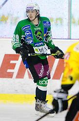 David Sefic of Olimpija  during 52nd Round of EBEL league ice-hockey match between HDD Tilia Olimpija, Ljubljana and EV Vienna Capitals, on February 7, 2010 in Arena Tivoli, Ljubljana, Slovenia. Vienna defeated Olimpija 8-2. (Photo by Vid Ponikvar / Sportida)