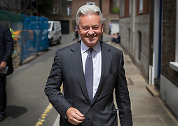 © Licensed to London News Pictures. 22/07/2019. London, UK. Sir Alan Duncan is seen in Westminster after resigning as Foreign Office Minister. Voting in the Conservative party leadership election ends today with the results to be announced tomorrow. Photo credit: Peter Macdiarmid/LNP