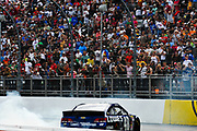 May 6, 2013 - NASCAR Sprint Cup Series, STP Gas Booster 500. Jimmie Johnson, Chevrolet does burnouts
