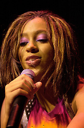 Solange Sister of Destiny's Child Star Beyonce appears as support for Kelly Rolland, also a member of Destenies Child  Live at Sheffield City Hall<br />