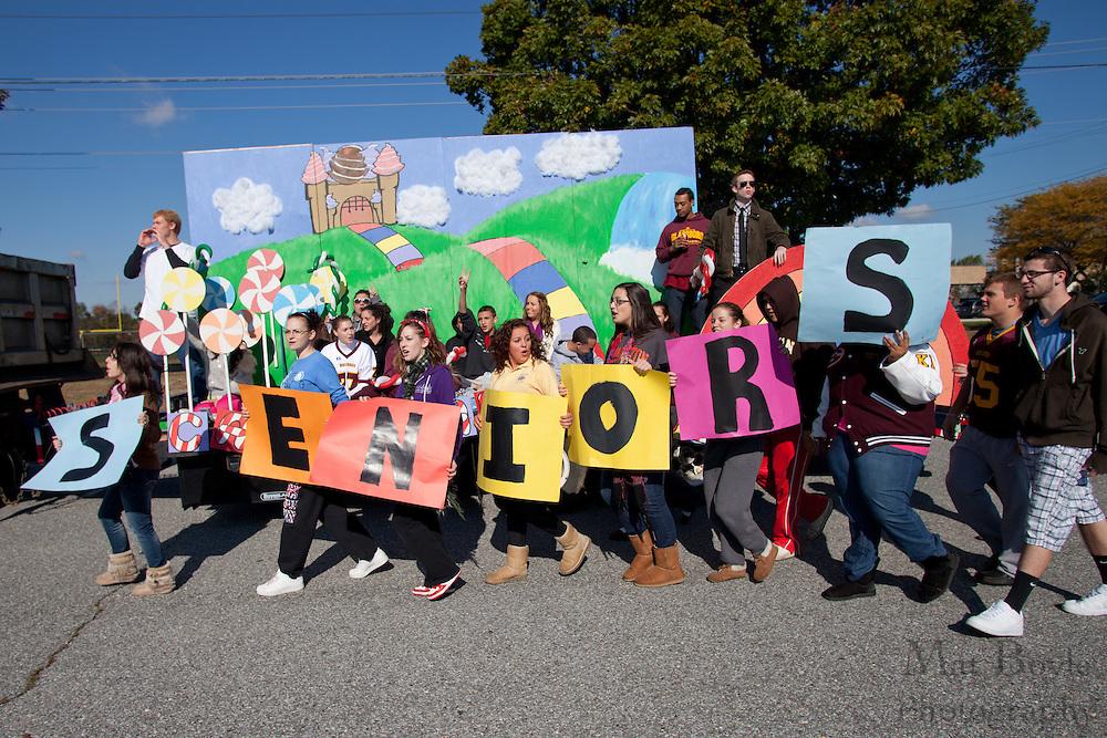 Glassboro High School Senior class at Glassboro High School and Rowan University Homecoming Parade on Saturday October 2, 2011. (Photo / Mat Boyle)