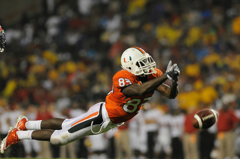 2011 Miami Hurricanes Football @ Maryland<br /> <br /> Kendal Thompkins