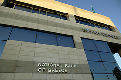 General View of the National Bank of Greece in the Avenue in Athens. Photo By Imago/ i-Images