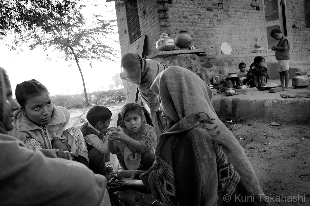 Women in Ingonia in Rajasthan, India on Nov 16, 2009.