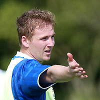 St Johnstone Training...18.10.02<br />Ryan Stevenson looking for a start in tommorow's line up against St Mirren<br /><br />Picture by Graeme Hart.<br />Copyright Perthshire Picture Agency<br />Tel: 01738 623350  Mobile: 07990 594431