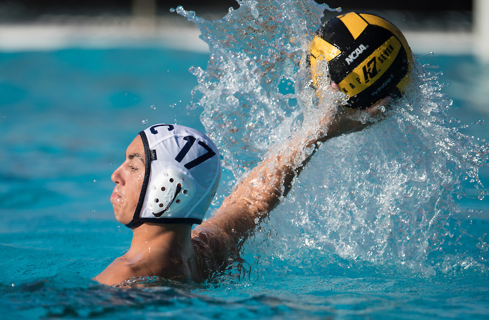 (date)(time) -- Fullerton College utility Kyle Degan (17) attempts to score during a NCAA waterpolo game at the OEC water polo championships at Saddleback College Mission Viejo, CA -- Photo by Colter Peterson / Sports Shooter Academy