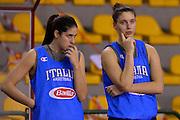 Maddalena Gaia Gorini, Cecilia Zandalasini<br /> Nazionale Femminile Senior - Allenamento<br /> FIP 2016<br /> Lucca, 18/11/2016<br /> Foto Ciamillo - Castoria