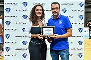 Premiazione Anadolu Efes Istanbul<br /> Banco di Sardegna Dinamo Sassari - Anadolu Efes Istanbul<br /> Finale Torneo Airitaly 2019<br /> Olbia, 01/09/2019<br /> Foto L.Canu / Ciamillo-Castoria