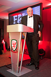 CARDIFF, WALES - Monday, October 6, 2014: Wales' FAW President Trefor Lloyd-Hughes at the FAW Footballer of the Year Awards 2014 held at the St. David's Hotel. (Pic by David Rawcliffe/Propaganda)