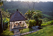 Amandari Resort, located in the hills of Ubud in Bali, Indonesia.  One of three super luxurious Aman resorts in Bali the Amandari is located in the rice fields above the Ayung <br /> River.
