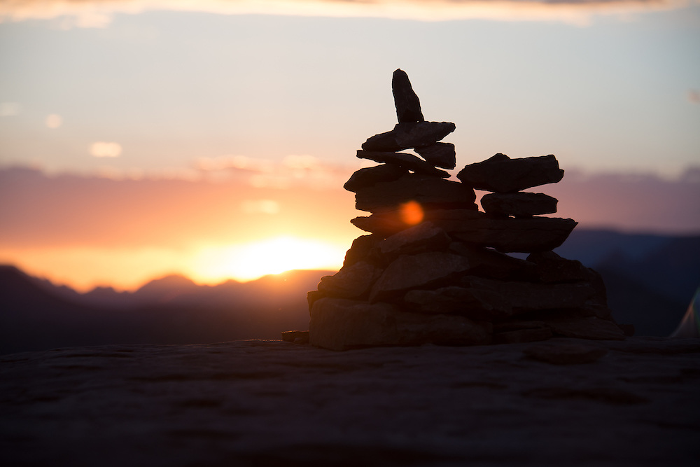 Sedona Cairn Rock Pilings<br /> Airport Vortex<br /> Sedona Arizona