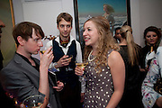 NICK HODSON-TAYLOR; ; JAMES MACAUSLAN; SUSAN PARKES, Party at the home of Amanda Eliasch in Chelsea after the opening of As I Like it. A memory by Amanda Eliasch and Lyall Watson. Chelsea Theatre. Worl's End. London. 4 July 2010<br /> <br />  , -DO NOT ARCHIVE-© Copyright Photograph by Dafydd Jones. 248 Clapham Rd. London SW9 0PZ. Tel 0207 820 0771. www.dafjones.com.