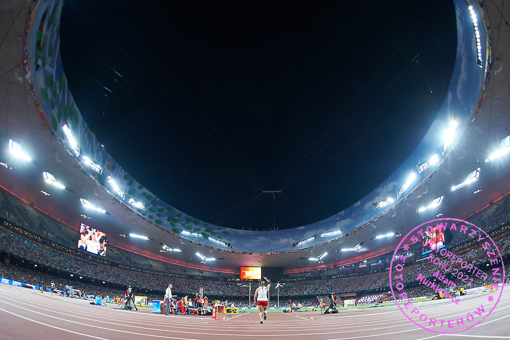 Maria Andrejczyk (Hancza Suwalki) of Poland competes in women&rsquo;s javelin qualification during Day Seventh of the 15th IAAF World Athletics Championships Beijing 2015 at Bird's Nest National Stadium in Beijing, China.<br /> <br /> China, Beijing, August 28, 2015<br /> <br /> Picture also available in RAW (NEF) or TIFF format on special request.<br /> <br /> For editorial use only. Any commercial or promotional use requires permission.<br /> <br /> Adam Nurkiewicz declares that he has no rights to the image of people at the photographs of his authorship.<br /> <br /> <br /> Mandatory credit:<br /> Photo by &copy; Adam Nurkiewicz / Mediasport
