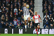 West Bromwich Albion striker Saloman Rondon (9) controls during the Premier League match between West Bromwich Albion and Southampton at The Hawthorns, West Bromwich, England on 3 February 2018. Picture by Dennis Goodwin.