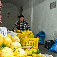 Limones de la Costa Amalfitana, Italia. Lemons Amalfi Coast, Italy
