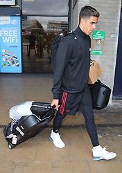 Joel Pereira is spotted at the Manchester Airport, UK as the Manchester United Football Club return from their USA Pre-Season tour on July 1, 2018.