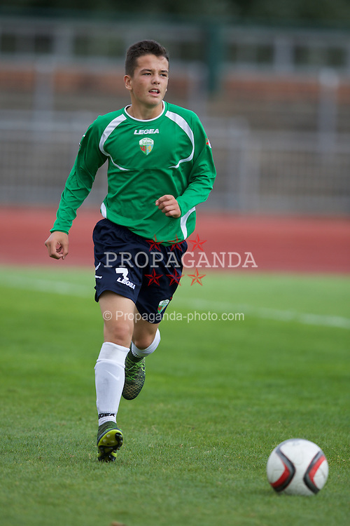 NEWPORT, WALES - Thursday, August 4, 2016: Central Development Boys' Ethan Rees during the Welsh Football Trust Cymru Cup 2016 at Newport Stadium. (Pic by Paul Greenwood/Propaganda)