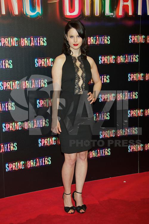 MADRI, ESPANHA, 21 FEVEREIRO 2013 - SPRING BREAKERS PHOTO CALL - Rachel Korine durante pre estreia do filme Spring Breakers em Madri capital da Espanha, nesta quinta-feira, 21. (FOTO: CESAR CEBOLA / ALFAQUI / BRAZIL PHOTO PRESS)..