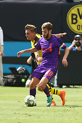 July 22, 2018 - Charlotte, NC, U.S. - CHARLOTTE, NC - JULY 22: Maximillixn Phillipp (20) of Liverpool controls the ball during the International Champions Cup soccer match between Liverpool FC and Borussia Dortmund in Charlotte, N.C. on July 22, 2018. (Photo by John Byrum/Icon Sportswire) (Credit Image: © John Byrum/Icon SMI via ZUMA Press)