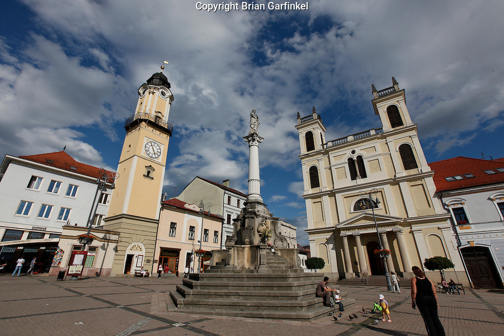 The main square in Banka Bytrica, Slovakia on Wednesday July 6th 2011.  (Photo by Brian Garfinkel)