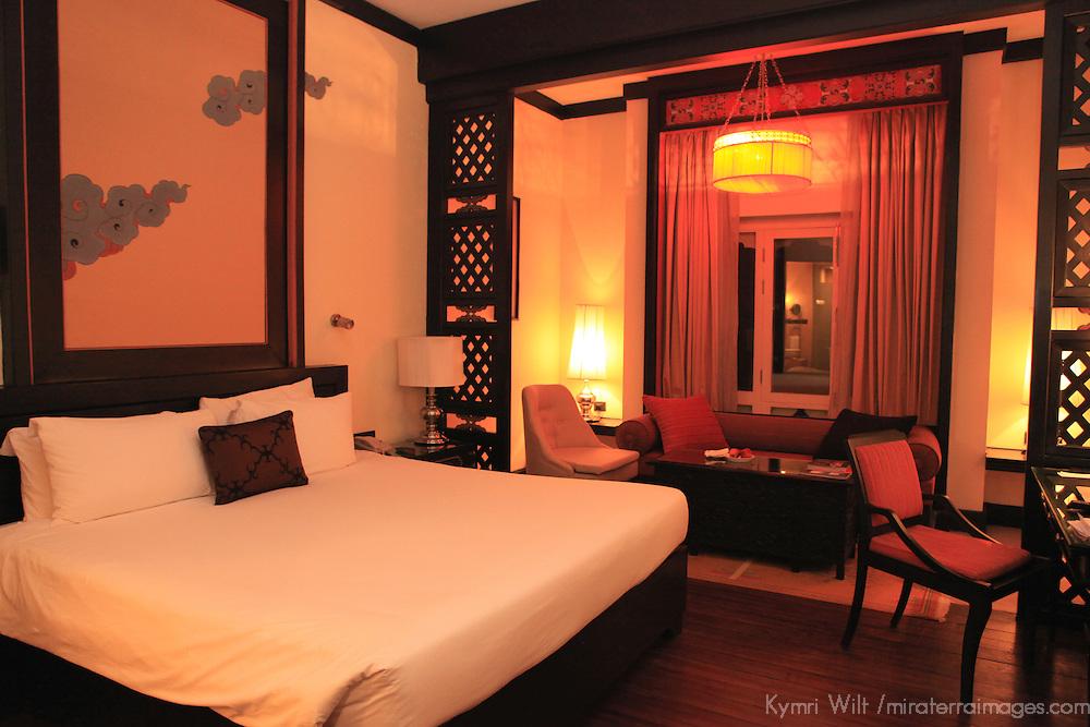 Asia, Bhutan, Thimpu. Taj Tashi Deluxe hotel room.