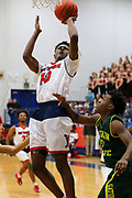 The West Monroe Rebels beat the Shreve Gators 67-58 in boys basketball Friday night 12Jan2018 at the WMHS Gymnasium.