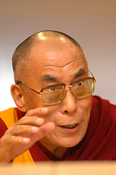 BRUSSELS, BELGIUM - MAY-30-2006 - The Dalai Lama speaks during a press conference at the European Parliament in Brussels. (PHOTO © JOCK FISTICK)