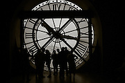 Looking out over Paris from the Musee d'Orsay. Paris, France.