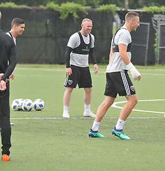 EXCLUSIVE: Wayne Rooney practices in the pouring rain with his DC United Teammates in Washington, DC. 24 Jul 2018 Pictured: Wayne Rooney. Photo credit: MEGA TheMegaAgency.com +1 888 505 6342