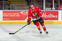 KELOWNA, BC - MARCH 03: Josh Paterson #17 of the Portland Winterhawks warms up against the Kelowna Rockets at Prospera Place on March 3, 2019 in Kelowna, Canada. (Photo by Marissa Baecker/Getty Images)