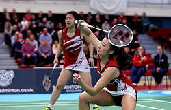 Emily Westwood of Bristol Jets and Mizuki Fuji of Bristol Jets in action during the women's doubles - Photo mandatory by-line: Robbie Stephenson/JMP - 06/02/2017 - BADMINTON - SGS Wise Arena - Bristol, England - Bristol Jets v Surrey Smashers - AJ Bell National Badminton League