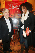 l to r: Brooklyn Borough President Marty Markowitz and Sarah Jones at The Opening for Spike Lee's theater production of  ' County of Kings' held at The Publc Theater on October  12, 2009