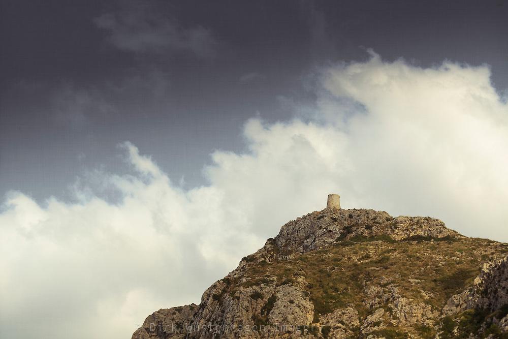 Torre de Albercutx, Mallorca, Spanien - texturierte Fotografie