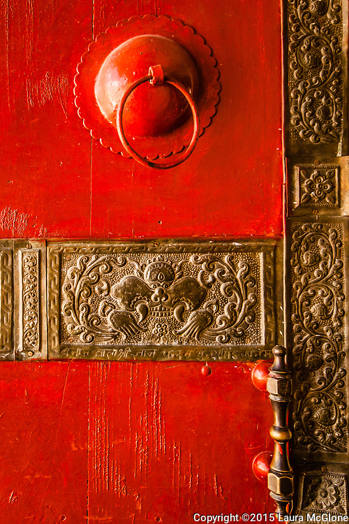 Door Detail Kye Tibetan Monastery, Himalayan Mountains, India