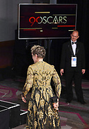 04.03.2018; Hollywood, USA:FRANCES MCDORMAND STICKS HER BEST ACTRESS OSCAR UP HER BACKSIDE<br /> at  the 90th Annual Academy Awards at the Dolby&reg; Theatre in Hollywood.<br /> Mandatory Photo Credit: &copy;Francis Dias/Newspix International<br /> <br /> IMMEDIATE CONFIRMATION OF USAGE REQUIRED:<br /> Newspix International, 31 Chinnery Hill, Bishop's Stortford, ENGLAND CM23 3PS<br /> Tel:+441279 324672  ; Fax: +441279656877<br /> Mobile:  07775681153<br /> e-mail: info@newspixinternational.co.uk<br /> Usage Implies Acceptance of Our Terms &amp; Conditions<br /> Please refer to usage terms. All Fees Payable To Newspix International