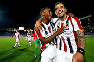 Onderwerp/Subject: Willem II - Jupiler League<br /> Reklame:  <br /> Club/Team/Country: <br /> Seizoen/Season: 2013/2014<br /> FOTO/PHOTO: Bruno ANDRADE ( Bruno Fernandes ANDRADE DE BRITO ) (R) of Willem II and Terell ONDAAN (L) of Willem II celebrating victory after the match ( 2 - 0 ). (Photo by PICS UNITED)<br /> <br /> Trefwoorden/Keywords: <br /> #02 #17 $94 &plusmn;1372506528100<br /> Photo- &amp; Copyrights &copy; PICS UNITED <br /> P.O. Box 7164 - 5605 BE  EINDHOVEN (THE NETHERLANDS) <br /> Phone +31 (0)40 296 28 00 <br /> Fax +31 (0) 40 248 47 43 <br /> http://www.pics-united.com <br /> e-mail : sales@pics-united.com (If you would like to raise any issues regarding any aspects of products / service of PICS UNITED) or <br /> e-mail : sales@pics-united.com   <br /> <br /> ATTENTIE: <br /> Publicatie ook bij aanbieding door derden is slechts toegestaan na verkregen toestemming van Pics United. <br /> VOLLEDIGE NAAMSVERMELDING IS VERPLICHT! (&copy; PICS UNITED/Naam Fotograaf, zie veld 4 van de bestandsinfo 'credits') <br /> ATTENTION:  <br /> &copy; Pics United. Reproduction/publication of this photo by any parties is only permitted after authorisation is sought and obtained from  PICS UNITED- THE NETHERLANDS