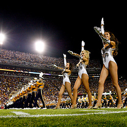 November 3, 2012; Baton Rouge, LA, USA;  The LSU Tigers band performs with the Golden Girls dance team prior to kickoff of a game against the Alabama Crimson Tide at Tiger Stadium. Alabama defeated LSU 21-17. Mandatory Credit: Derick E. Hingle-USA TODAY SPORTS